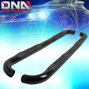 For 2009 2018 Ram Truck 1500 Extended Cab Black 3 Tubing Nerf Bar Step Boards