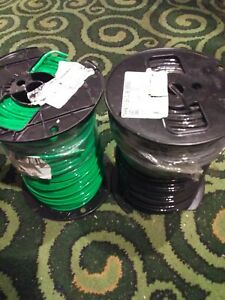 Copper 10 Awg Thhn Stranded And Solid Wire 2 500 Spools New Black And Green