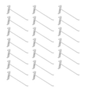 20 Pc 8 gloss White Grid Wall Metal Hooks Display For Use W Gridwall Panels
