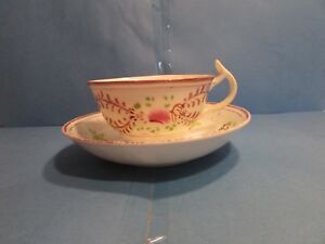 Vintage Tea Cup And Saucer English Bone China Floral T Goude Co London