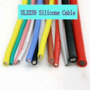 20awg Ul3239 Silicone 200 3kv 3000v High Voltage Soft Cable Od 1 9mm 20 0 18ts