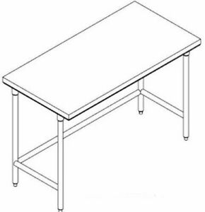 Select Stainless 60x24 Commercial Stainless Steel Table nsf ul Pl 5 Kdwt 24 ss