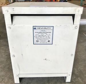 Hevi Duty 15kva Dry Type 3ph Transformer T2h15s 9117