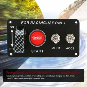 Racing Car Ignition Switch Panel Engine Start Starter Push Button Led Toggle Nd