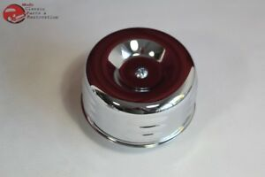 Louvered Chrome Hot Rat Rod Style Air Cleaner 1 Barrel 2 516 Chevy Ford Truck
