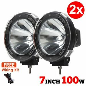 1 Pair 7 Inch 12v 100w Hid Driving Lights Xenon Spotlights For Offroad Yk