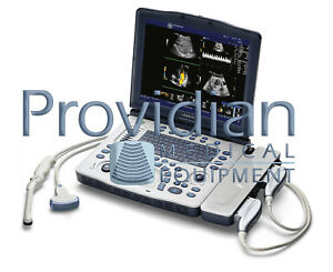 Ge Logiq V2 Portable Ultrasound System With 4c rs Convex Ob Transducer