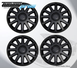 15 Inch Snap On Matte Black Hubcap Wheel Cover Rim Covers 4pc 15 Inches 610