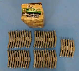 Nos Fmc Wheel Weights 3 Ounce 46 Pieces John Bean Wheel Balancing Weights Lead