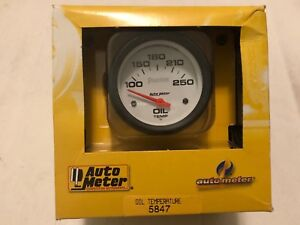 Auto Meter 2 5 8 Phantom Electric Oil Temperature Gauge 100 250 F