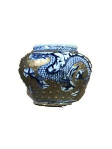 Antique Chinese Porcelain Dragon Vase