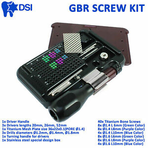 Dsi Dental Implant Gbr Guided Bone Regeneration Mesh Membrane Surgical Screw Kit
