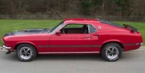 New 1969 Mustang Mach 1 Complete Reflective Black And Gold Side Trunk Stripe Kit