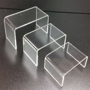 5 Sets Of 3 Clear Acrylic Mini Riser Display Set Multi Use