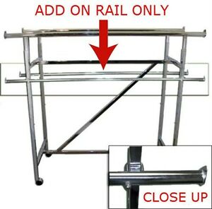 Free Shipping Add On Rail For Double Bar H Garment Rack 60 Long set Of 2