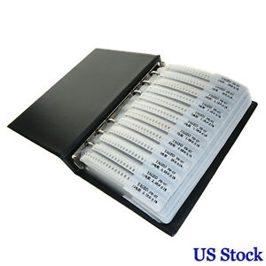 170 Values 8500 Pcs R1206 1 Smd Resistors Assortment Kit Sample Book 1206