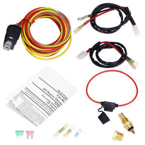 165 185 Dual Electric Fan Wiring Harness 40amp Thermostat Sensor 3 8 Npt Switch