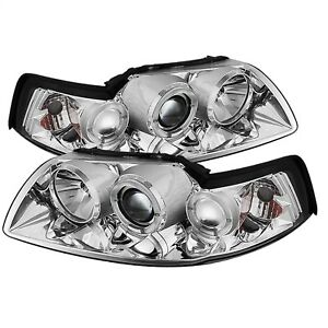 Spyder Auto 5010452 Halo Projector Headlights Fits 99 04 Mustang