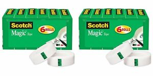 Scotch Magic Tape Writeable 3 4 X 1000 Inches Boxed 6 Rolls 810k6 2pack