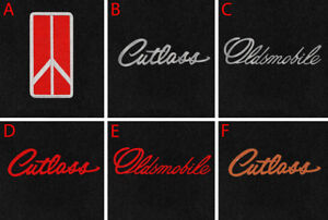 New Black Floor Mats 1961 1996 Cutlass With Embroidered Logo Free Shipping 2