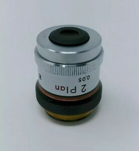 Nikon Microscope Objective Plan 2x 0 05 With Iris Diaphragm