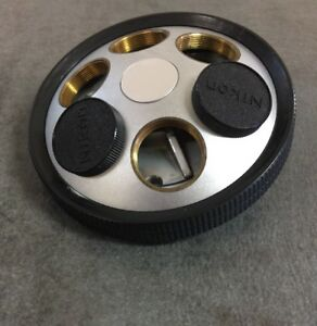 Nikon Microscope 6 Place Nosepiece For Microphot