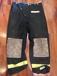 Firefighter Turnout Express Bunker Pants Cairns 38x32 93 Black Vintage Costume
