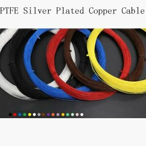 Colored 2 5mm Pfep Teflon Silver Plated Copper Cable Wire 200 O d 2 8mm