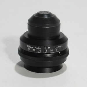 Nikon Abbe 1 25 Microscope Condenser For Optiphot Labophot Alphaphot