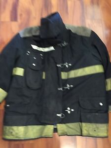 Firefighter Chieftain Stedair 2000 Turnout Bunker Coat 54x32 1993 Black Costume
