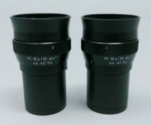Zeiss Microscope Eyepieces Pl 16x 16 Focusing 444054