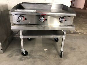Star 36 Commercial Thermostatic Heavy Duty Gas Griddle With Stand