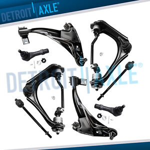 2002 2003 Explorer Mountaineer Front Upper Lower Control Arms Tierods 4 6l