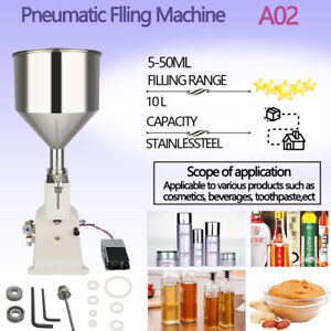 A 02 Manual Filling Machine For Cream Shampoo Cosmetic liquid 5 50ml In Us