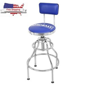 New Kobalt Adjustable Hydraulic Stool Mechanic Seat Chair Work Shop Garage Bench