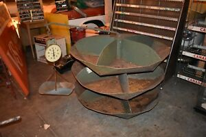Vintage Rotobin Rotabin Industrial Store Display Parts Cabinet With Scale