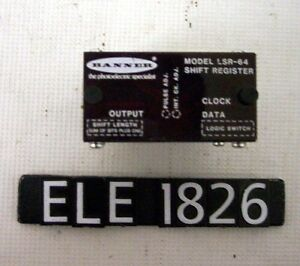 Banner Lsr 64 Shift Register 64 bit 8 pin 150ma Max ele1826