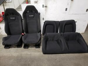 2015 2016 2017 Ford Mustang Gt Cloth Recaro Seats Front Back Oem