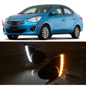 Fog Light Daytime Running Light Drl Led Day Light For Mitsubishi Mirage G4 12 18