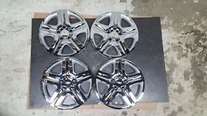Set 2006 07 08 09 10 11 12 Impala Monte Carlo Hubcaps Wheel Covers Chrome 3021