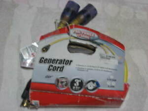 Pro power 12 Gauge 3ft Generator Cord 1 L14 20p To 2 Lighted 5 20r