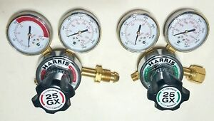 New Harris Model 25gx Oxygen Acetylene Regulator Set Cutting Welding Torch