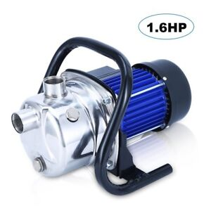 1000gph 1 6 Hp Stainless Steel Jet Booster Water Pressure Pump 1200w Jet1600 Fa