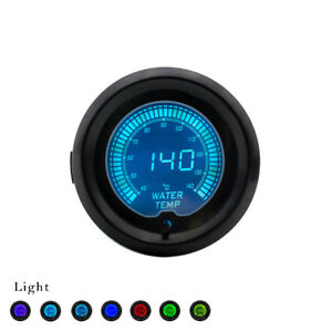 2 52mm Universal Car Evo 7 Color Selectable Lcd Digital Water Temp Gauge Meter