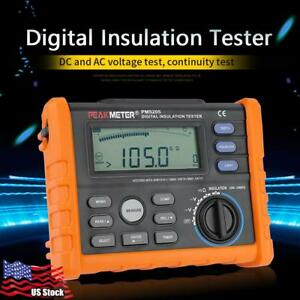 Peakmeter Pm5205 Digital Insulation Resistance Multimeter Megger Tester Us Stock