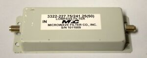 fc Microwave Lowpass Filter 3322 227 75 241 25 50 New Old Stock
