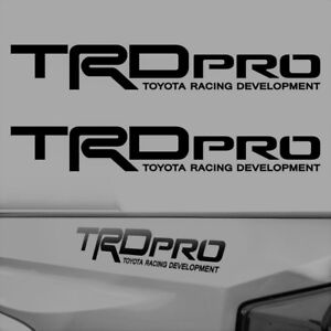 Trd Pro Vinyl Decal Stickers Compatible With Toyota Tacoma Tundra Bed Side