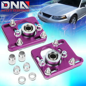 For 94 04 Mustang Purple Front 2 5 Adjust Camber Caster Plates Alignment Kit