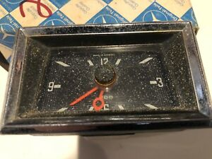 Vintage Mercedes Vdo W111 W112 Genuine Oem Square Face Dash Panel Clock