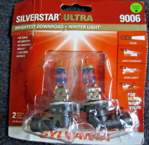 9006 Sylvania Silverstar Ultra Night Vision Halogen Headlight Bulbs Low Beam
